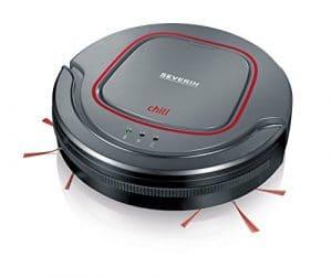 Severin 7025 Chill Aspirateur Robot 350 ml Gris Platine/Rouge Grenat/Noir 28,1 x 28,1 x 0,7 cm