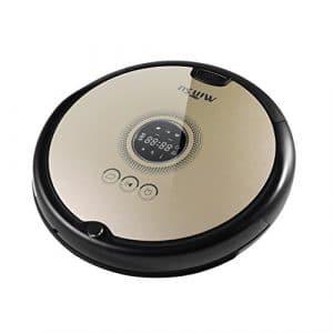 ICOCO Aspirateur Robot Ultra Silencieux avec Télécommande Slim Affichage LCD Réponse Sensible à l'Impulsion Vocale Amitiés aux Animaux Domestiques et aux Allergies Caractéristiques Programme de Nettoyage à Domicile avec Station de Charge Pièce Jointe Mouillée (Café)