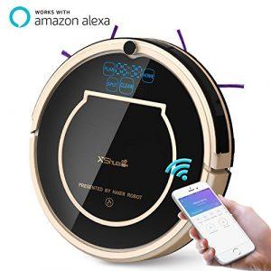 Haier XShuai T370- Aspirateur Robot avec Siri et Alexa Contrôle Vocal, Télécommande, Réservation de Nettoyage, Auto-Recharge, Balayage et Vadrouille, Gyroscope, Navigation, avec Filtre HEPA