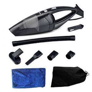 HUABEI Aspirateur de voiture, 12V 120W Aspiration forte sèche/humide Aspirateur à main pour Voiture Automatique 5M Cordon d'alimentation avec Sac et Tissu