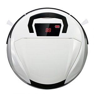 EVERTOP Robot Aspirateur Automatique, Nettoyeur Intelligent Robot Aspirateur Sans Fil, Aspirateur Robotique de sol Balayeu Puissant pour des ménages