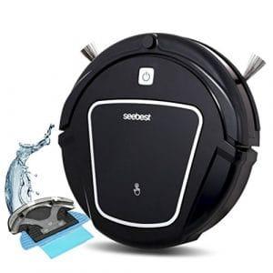CCYOO D730 Momo 2,0 Aspirateur Robot avec Nettoyage Humide/Sèche Fonction Nettoyer Robot Aspirateur,Black,EU
