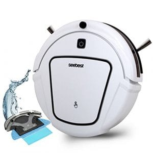 CCYOO D730 Momo 2,0 Aspirateur Robot avec Nettoyage Humide/Sèche Fonction Nettoyer Robot Aspirateur,White,US