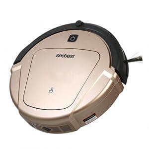 CCYOO D750 Turing 1.0 Robot Aspirateur Sec Et Humide De Vadrouille avec Le Réservoir d'eau Et L'aspirateur De Robot De Navigation De Gyroscope,Euplug