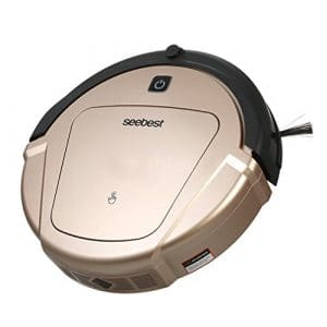 CCYOO D750 Turing 1.0 Robot Aspirateur Sec Et Humide De Vadrouille avec Le Réservoir d'eau Et L'aspirateur De Robot De Navigation De Gyroscope,Usplug