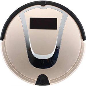 Robot Aspirateur Balayeuse Machine Aspirateur Nettoyage Domestique Cheveux Outil Muet Smart Sensor Navigation Et Télécommande,Gold
