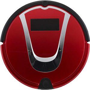 Robot Aspirateur Balayeuse Machine Aspirateur Nettoyage Domestique Cheveux Outil Muet Smart Sensor Navigation Et Télécommande,Red