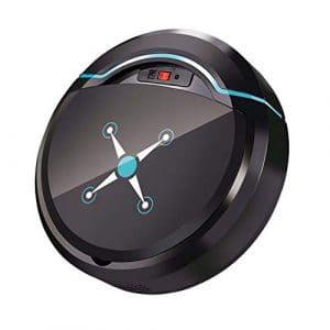 ZREAL Smart Aspirateur Robot USB Rechargeable avec Ventouse et Outil de Nettoyage Automatique Noir
