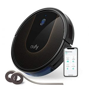 eufy RoboVac 30C – Robot aspirateur avec Wi-Fi, contrôle via application, puissance 1500Pa BoostIQ™, 100 minutes d'autonomie et bandes délimitantes