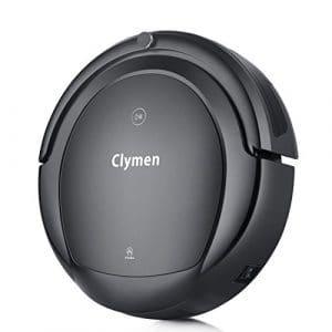 Clymen Q9 Robot Aspirateur Nettoyage 3 En 1 Avec Commandes Vocales, Robot Automatique Avec 2D Navigation, Se Connecte Au Wifi Et Compatible Avec Alexa App, 2 Lumières UV Pour Désinfection