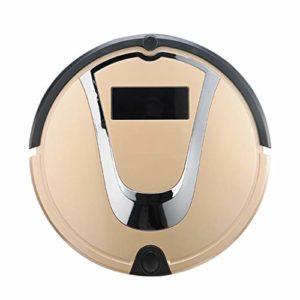 Gmjay Robot Aspirateur Intelligente de Robot Remplissant Automatique de Robot pour Le Plancher en Bois/Tuile/Marbre/Tapis,Gold