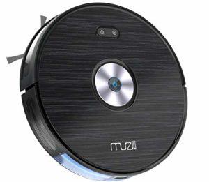 Aspirateur Robot, Muzili Aspirateur Puissant pour Tapis Sols Durs 3 en 1 Utilisation Sec et Humide, 6 Modes de Nettoyage Connecté Wi-Fi Alexa App Chargement Automatique Parfaite pour Poils d'Animaux