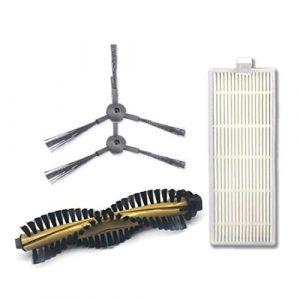 Aiweijia Kit d'accessoires pour ILIFE A4 A4S A6 Vide Brosses Latérales Plus Propres Brosse Principale Rouleau Pièces de Rechange de Filtre