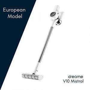 Dreame V10 Mistral – Aspirateur Balai Sans Fil, Modèle européen, Technologie de réduction du bruit, 100.000 tr/min, 60 min