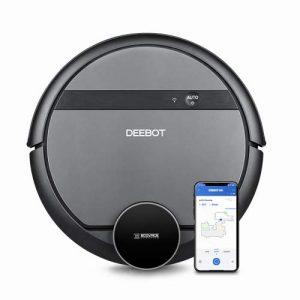 ECOVACS Robotics DEEBOT 901 – Aspirateur robot intelligent- barrières virtuelles – Wi-Fi et application – brosse multifonction et aspiration directe, noir