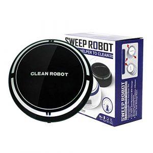 FairytaleMM Batterie de Robot de Nettoyage de Ménage Intelligent Environnemental de Petite Taille Powe Robot de Nettoyage Automatique Dispositif de Robot de Balayage (Noir)