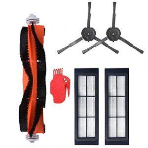 Flyes Accessoires Pour XIAOMI Roborock S5 S50 S51 S55 E35 E25 E20 Roborock Robot Aspirateur Brosse Latérale 2pcs Filtre HEPA 2pcs Brosse Principale 1pcs Outil De Nettoyage 1pcs Nettoyant Pièces