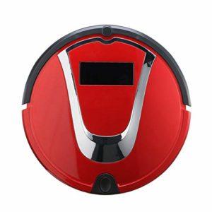 Gmjay Robot Aspirateur Intelligente de Robot Remplissant Automatique de Robot pour Le Plancher en Bois/Tuile/Marbre/Tapis,Red