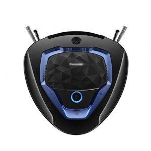 GYY Robot Aspirateur Robot Aspirateur Accueil Intelligent Robot Aspirateur Robot de Balayage Automatique à Télécommande Rendez-Vous Robot Vadrouille (Color : Black, Size : 32.8 * 33.3 * 9.9CM)