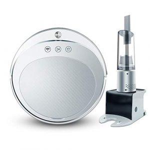 Haoshangzh55 Aspirateur Robot avec aspirateur à Main sans Fil pour Le Nettoyage et Le Balayage de la Maison Machine Automatique de Balayage Intelligent Automatique Blanc