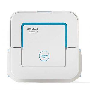 iRobot Braava Jet 240 – Robot Laveur de Sol pour Cuisine et Salle de Bain Blanc