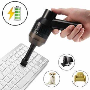 Kit d'Aspirateur Clavier,Rechargeable Mini USB Aspirateur Sans Fil Portable pour Clavier Keyboard Ordinateur Souris PC Boîtes Satellite Voiture Canapé et Autres Meubles