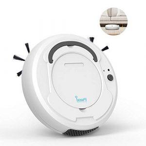 leegoal 3 en 1 Robot aspirateur, ménage Automatique Smart Sweeper Robot avec Nettoyage, 1800Pa Forte succion capteurs intelligents balayeuse de Plancher pour Les Cheveux d'Animal familier, Tapis durs