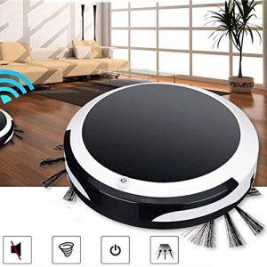 MROSW Smart Balayer Robot Accueil 4 en 1 Rechargeable Nettoyage Automatique Robot Dirt Cleaner Poussière Automatique pour Cheveux Aspirateurs Électriques