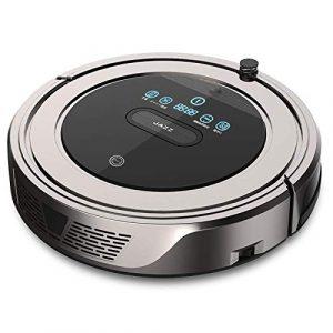 Nettoyage Robot Balayer Robot Nettoyeur automatique à vide Intelligent ménagers Machine à balai à franges ultra-mince Mute, Or Café KaiKai (Color : Coffee Gold)