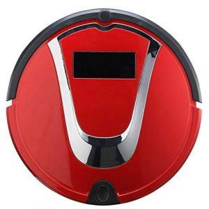 Prom-note Robot Aspirateur Mop avec Réservoir d'eau, Nettoyage Automatique De Balayage Et Mopping Robot Nettoyer Régulièrement, Une Forte Capacité D'adsorption,Rouge