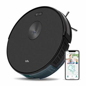 Puissant robot aspirateur sans fil 3-en-1 Trifo Ironpie m6+, Balayage avec navigation par caméra, contrôle manuel par appli et recharge automatique – Noir