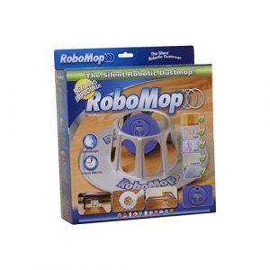 RoboMop Basic Robot Aspirateur 5 pads de Rechange inclus Batterie Rechargeable et Station de Chargement Bleu / Gris