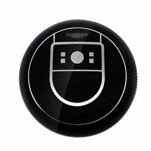 Robot aspirateur Nettoyage Automatique Fin Super Silencieux capteur Anti-Chute et Collision idéal pour Animaux Fourrure, sols et poussière Noir