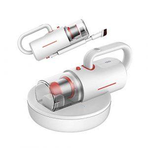 Robots Aspirateurs Ménage sans Fil Anti-Mites Aspirateur Multifonction Mini UV Cleaner Rechargeable (Couleur : Blanc, Taille : Taille Unique)