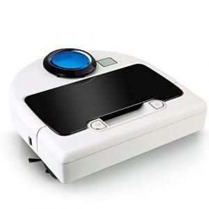 ZLAHY Robot de balayage Nettoyeur entièrement automatique de nettoyage de vadrouille de robot aspirateur robot intelligent domestique, blanc