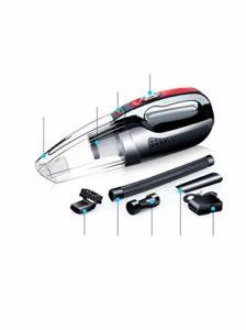 Aspirateur de voiture, 6000PA Aspirateur à main puissant Utilisation humide/sèche 120W DC 12V Portable 450cm Câble avec filtre HEPA amovible à faible bruit
