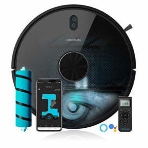 Cecotec Aspirateur Robot Conga 5090. Alexa et Google Assistant, Brosse Jalisco et pour poils d'animaux, 8000 Pa, Wi-Fi 5 GHz