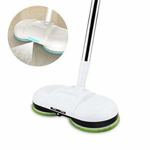 LiangDa Vadrouille Cleaner sans Fil Robot Aspirateur électrique Mop avec LED Cire Eau Vadrouille Sol Nettoyage Robot pour Le Nettoyage des Sols (Color : White, Size : 125x39x8.5cm)