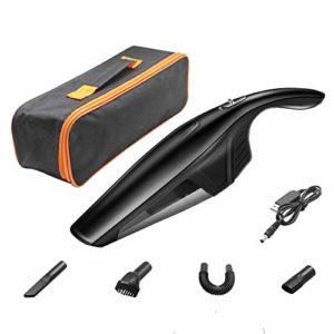 WXYLYF Aspirateur À Main sans Fil 4000 Pa, Aspirateur Rechargeable Portable Léger Et Humide