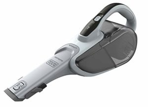 BLACK+DECKER DVJ215J-QW Aspirateur à main sans fil – 7,2 V – Autonomie : 14 min – Charge : 4h – Chargeur prise Jack – Prolongateur intégré et brosse retractable , 500 ml, Blanc
