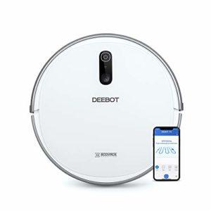 ECOVACS DEEBOT 710 – Aspirateur robot avec technologie de cartographie – Pour sols durs et tapis – Aspirateur sans fil programmable via smartphone et compatible avec Amazon Alexa