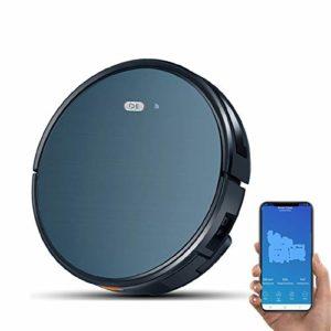 GJZLG Aspirateur Robot, Wi-FI 1200Pa Max Aspiration de Recharge Automatique et Silencieux Alexa Control App Sweeper Auto Robot de Nettoyage pour Animaux Tapis