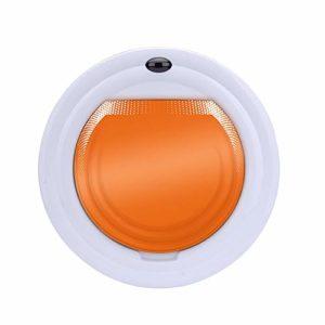 HCDMRE Aspirateur Robot Balayage aspirateur Automatique ménage Intelligent Machine de Nettoyage Slim et Silencieux,Orange