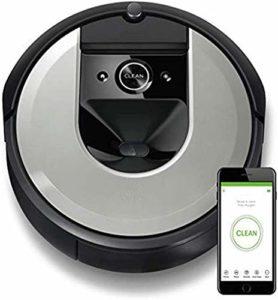 KQBAM Robot Aspirateur, Système De Nettoyage en Trois Étapes, Détection De Pièce Intelligente, Robot D'Application WiFi, Aspirateur Intelligent, pour Poils d'animaux, Récipient Lavable, Noir