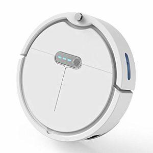 LWJH Robot Aspirateur, Robot Aspirateur Silencieux, Design Fin, Avec 3 Modes De Nettoyage, Capteur De Protection Anti-Collision Et Anti-Chute, Chargement Automatique, Capacité De 0,37 L