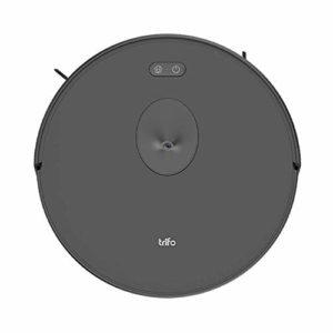 Puissant robot aspirateur robot sans fil Trifo Ironpie m6 avec navigation par caméra, contrôle manuel par appli et recharge automatique – Noir