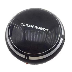 Robot Nettoyeur de Sol Automatique Robot Aspirateur (Noir)