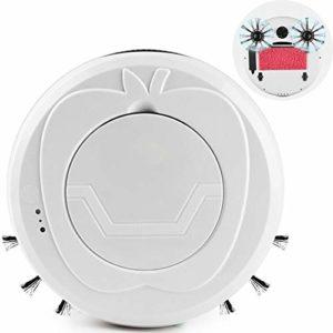 Aspirateur Automatique Robot Aspirateur Laveur, Machine De Nettoyage Automatique Domestique, Aspirateur Intelligent Paresseux Ultra-Mince Et Ultra-Silencieux Parfait sur Tapis Et Sols