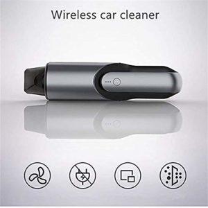 LXJ-KLD Aspirateur sans Fil de Voiture, Bureau aspirateur, Fournitures Mini-Auto à Double Usage Portable, aspirateur Domestique,Noir