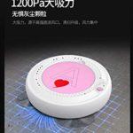 Robot de nettoyage LIUCHANG – Robot aspirateur balai à franges simultanément pour sols durs, moquettes, 80 minutes avant charge automatique, ultra fin, (couleur : rose) (couleur : bleu) liuchang20